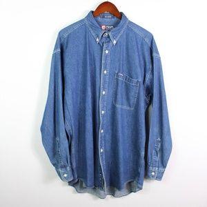 Chaps Ralph Lauren Men's Button Down Shirt Denim